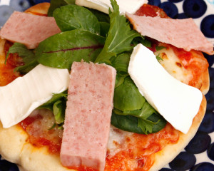 SPAM and Baby Leaf Pizza